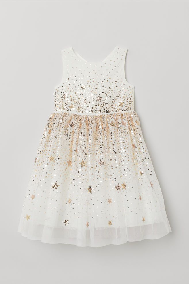 f6997ee5089 Tulle Dress with Sequins - White - Kids