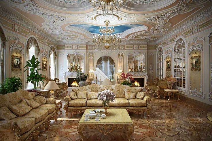 French Furniture Interior Design wuth rococo living room