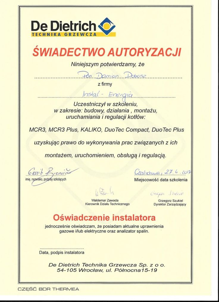 Kotły gazowe DeDietrich Częstochowa