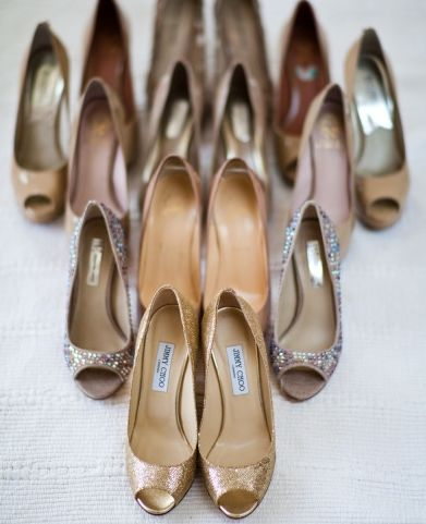 Get a pic of you and your bridesmaids' shoes!