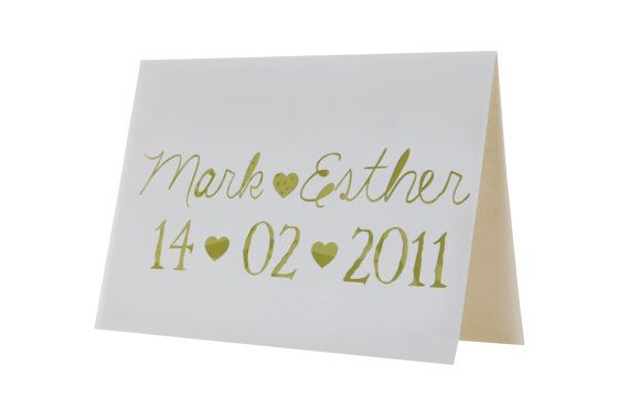 Wedding or Anniversary Keepsake Card by weheartcards on Etsy