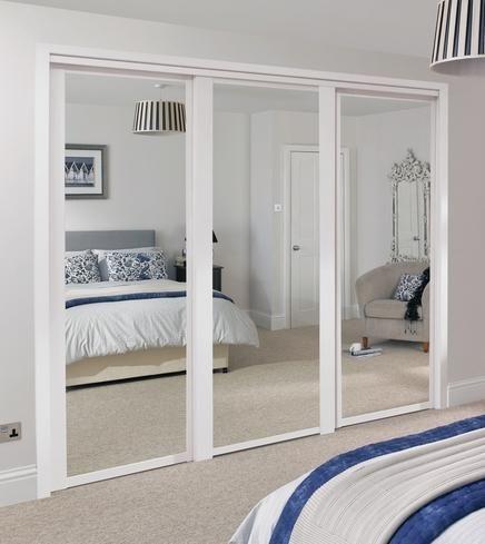 Shaker Mirror Door White