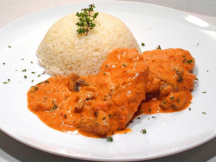 Bakonyi csirkemell filé recept