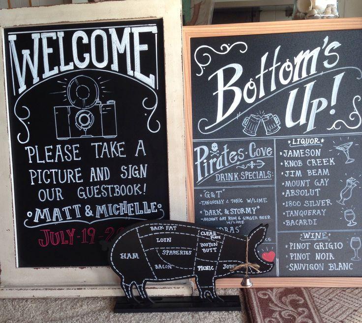 Pig Roast Wedding Signs