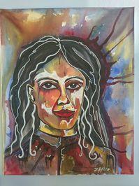 zippora-meijer-portret-aquarel-en-acryl-op-doek
