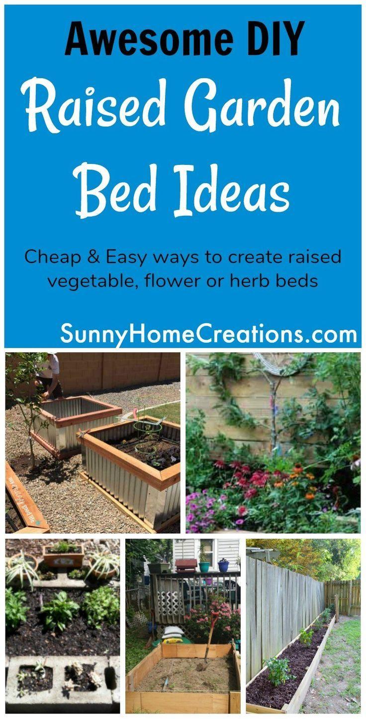 brilliant diy raised garden bed ideas home outside pinterest