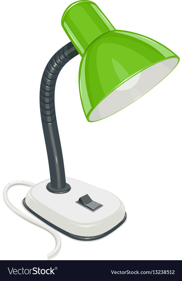 Desk Electric Lamp With Green Vector Image On Vectorstock Electric Lamp Lamp Alphabet Pictures