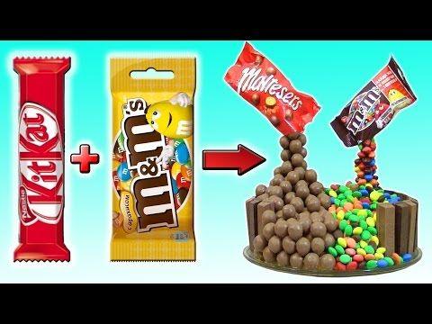 DIY - ТОРТ из КИТ КАТ, M&M's и Maltesers. Как сделать его дома? - YouTube