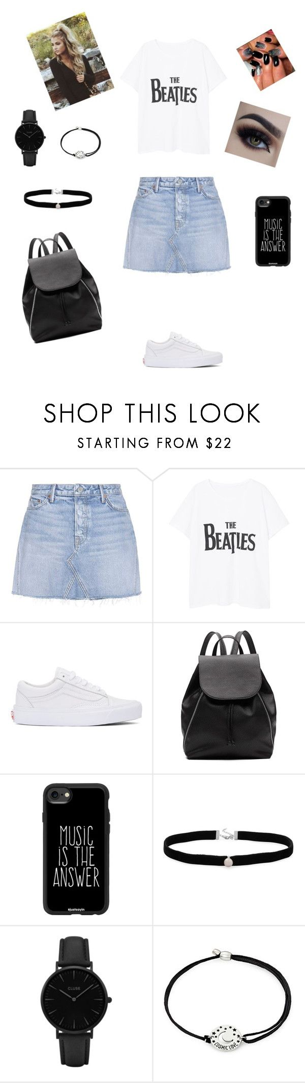 """Beatles"" by natalyholly on Polyvore featuring GRLFRND, MANGO, Vans, Witchery, Casetify, Amanda Rose Collection, CLUSE and Alex and Ani"