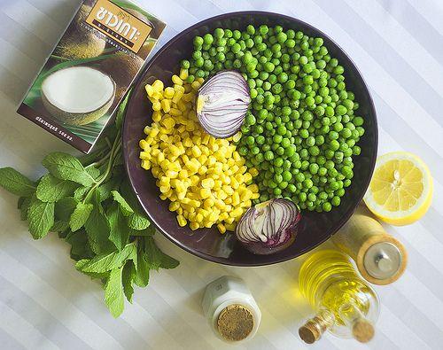 Мятный крем-суп из горошка и кукурузы | Salatshop ♥ You