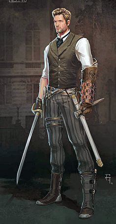 Steampunk Characters Male