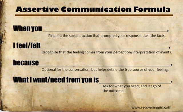 Assertive Communication Formula Excellent Way To Figure
