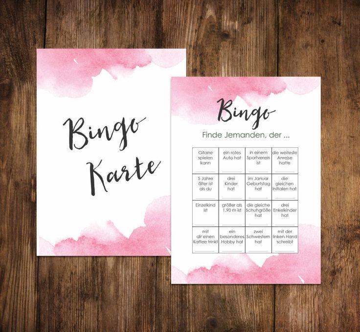 50 wedding bingo cards, wedding bingo game – Hochzeit