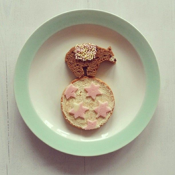 Circus Bear Plate on Instagram: sandravandenbroek, play with your food, food, kids food, circus bear, circus bear lunch, lunch