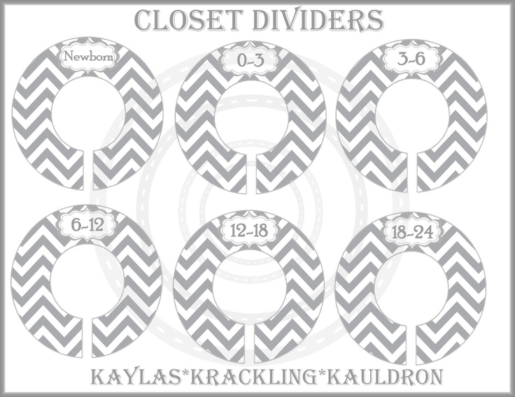 28 best images about baby closet on pinterest closet for Clothes divider template