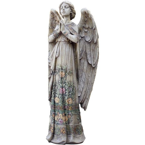 "24"" Rose Praying Angel Outdoor Statue (8 100 UAH) ❤ liked on Polyvore featuring home, outdoors, outdoor decor, outdoor garden decor, outdoor statuary, outdoor angel statues, outdoor statues and angel garden decor"