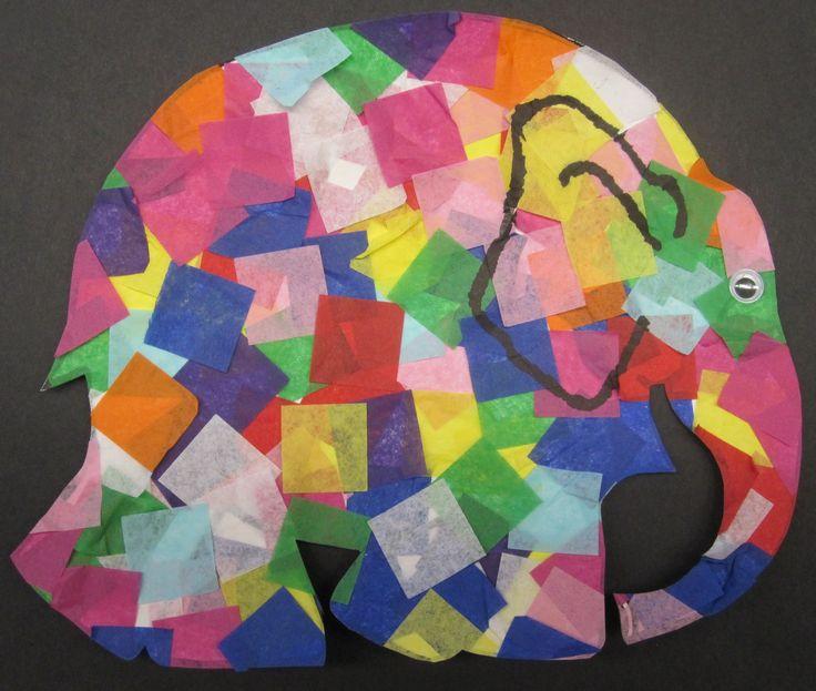 "Elmer the Patchwork Elephant  Activity based on ""Elmer"" by David McKee"