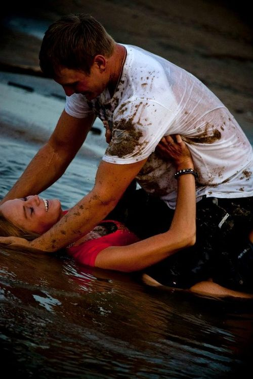 we are going to do this one day... wrestle in the mud ;)
