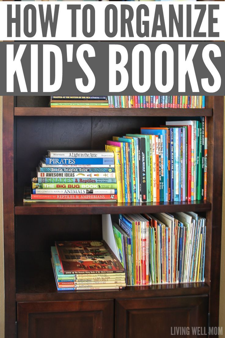 Ok Brilliant Tip In Here For Using Magazine Holders Or Even Cereal Boxes To Hold Children S Paperba Organizing Kids Books Kids Book Storage Organization Kids