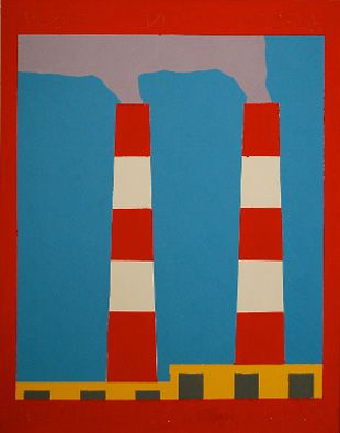 """""""Japanese Landscape (View out of the Window of the Hospital. Morning 12/12/2009"""". Acrylic on canvas"""