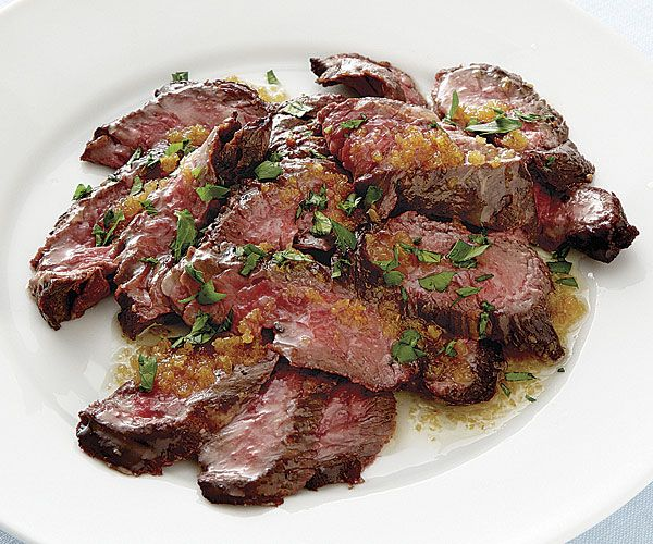 Brazilian Skirt Steak with Golden Garlic Butter