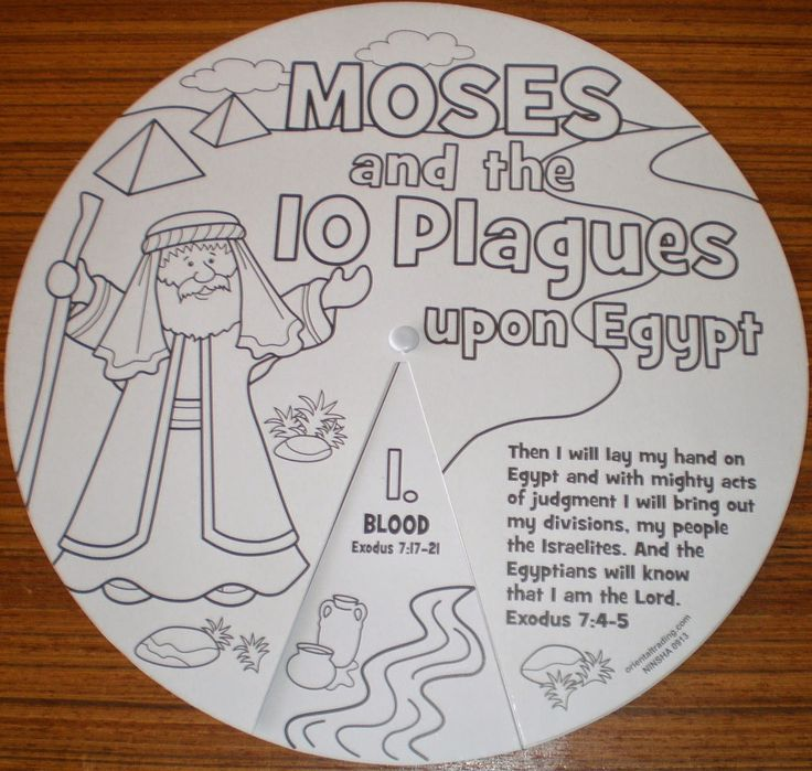 Free coloring pages of moses ten