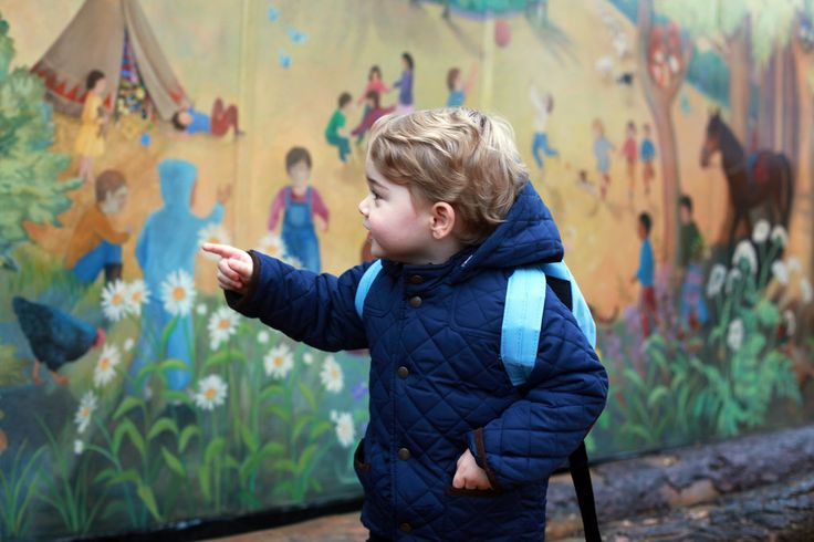 Prince William and Prince George Preschool Pictures | POPSUGAR Celebrity