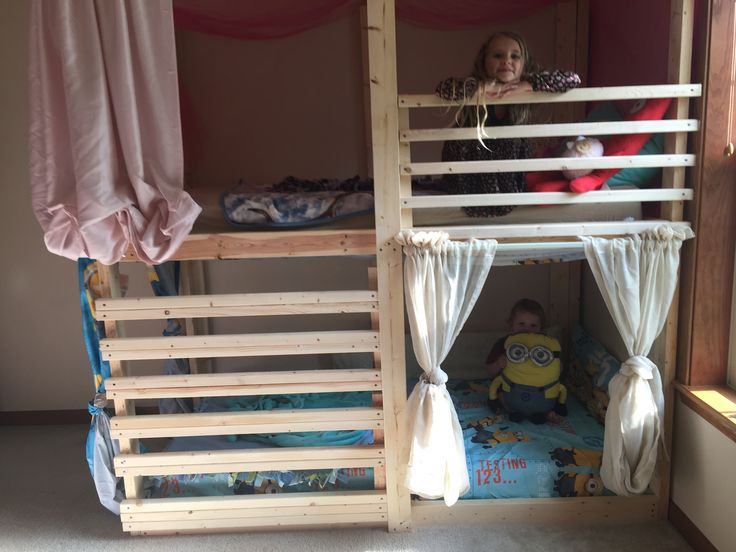Best 25+ Homemade bunk beds ideas on Pinterest | Bunk beds with storage,  Twin bed for girls and Kid beds