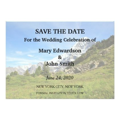 #personalize - #Switzerland mountain wedding Eiger Save the Date Card
