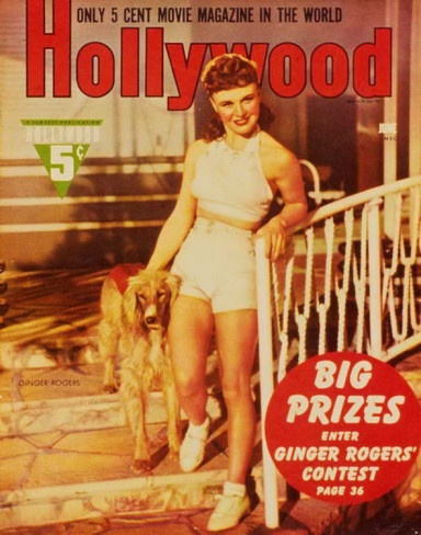Ginger Rogers - Hollywood Magazine Cover 1940's