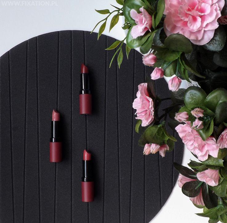 FIXATION.PL: Golden Rose Velvet Matte Lipstick - matowe pomadki do ust | Numery 02, 12 i 20