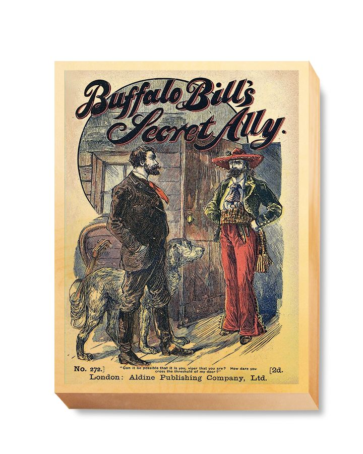 WES 025 Western Comic Cover Buffalo Bill's Secret Ally