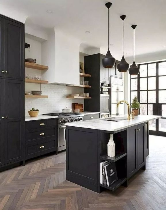 101 Luxury Black And White Kitchen Cabinets Design Ideas To Copy