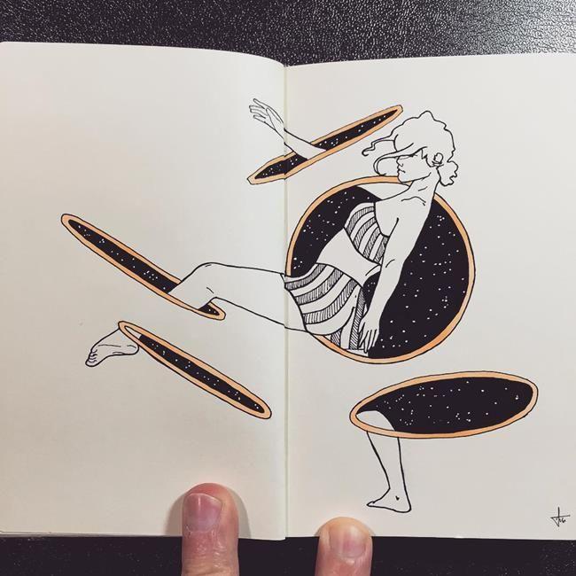 Not Defterine Yapılmış Birbirinden Leziz Kara Kalem Resimleri: Francisco Del Carpio Sanatlı Bi Blog 28