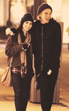 Lily Collins and Jamie Campbell Bower I LOVE them together :) he is the SEXIEST MAN ON THE PLANET and she's AMAZING!!