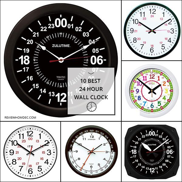 10 Best 24 Hour Wall Clock Clock Wall Clock Clock Decor