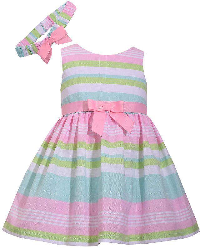7b6e151b3e1 Sleeveless Stripe Dress - Baby Girls  Sleeveless Jean Bonnie