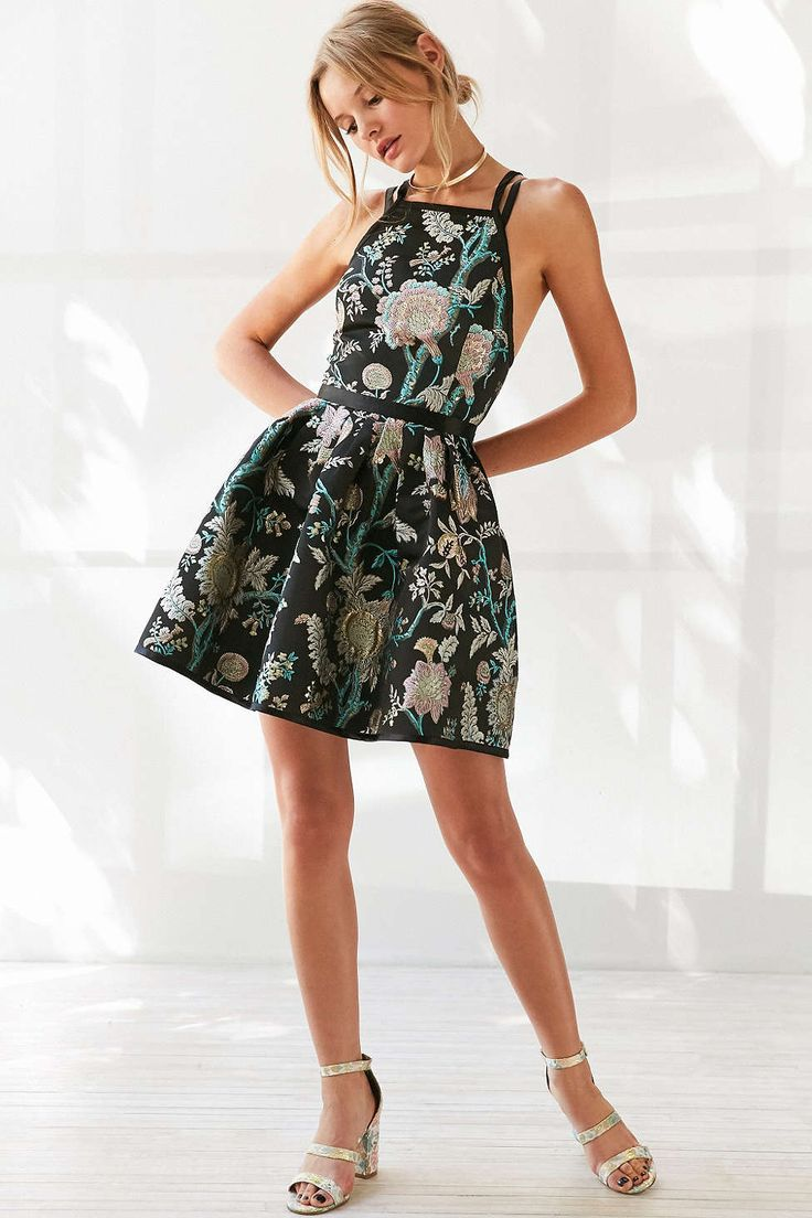 Kimchi Blue Hidden Dragon Jacquard Mini Dress - Urban Outfitters