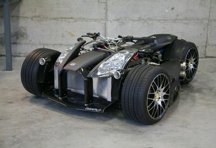Doidos fazem quadriciclo com motor de Ferrari e câmbio de BMW por pura diversão - Fotos - R7 Carros