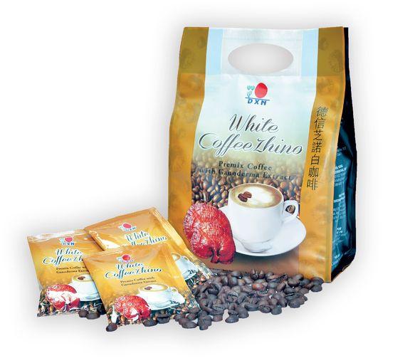 A DXN White Coffee Zhino a cappuccino rajongóinak az új kedvence lesz. A kiváló minőségű instant kávé, kávékrémpor és a Ganoderma-kivonat harmonikus keveréke, melyet egy selymes lágy habréteg koronáz. A legjobb dolog egy csésze DXN White Coffe Zhino-ban, hogy egyszerre krémesen sűrű, mégis kellemesen légies. A DXN új,  hívogató illatú kávékülönlegessége, az eredeti olasz cappuccino aromáját idézi. http://bea.ganodermakave.hu/termekek