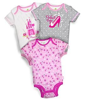 Disney Baby- -Princess Infant Girl's 3-Pack Bodysuits 10