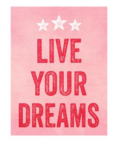 'Live Your Dreams' Print by Curious Print Co.
