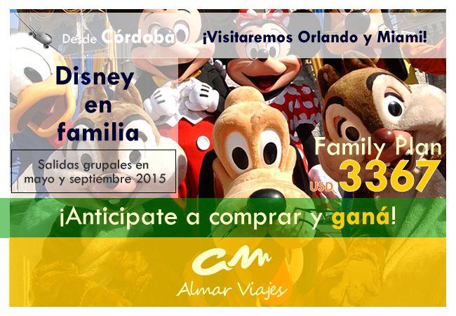 """#TodosADisney #SelfiesConAVDisney l ¡Disney en familia 2015 con la mejor financiación! ¡N°1 en gestión de VISA!  [Para más información por favor ingrese en nuestro sitio web]: > http://www.almarviajes.com.ar/Tours/Details/1/disney-en-familia  Consúltenos por reuniones informativas personalizadas y por la Visa estadounidense.  Imagenes: Disney Latino.  Equipo de Almar Viajes, Amigos de Viajes EVyT – LEG 15220 – RESO 1040 / 2012  """"Si lo sueñas, lo puedes lograr"""" Walt Disney"""