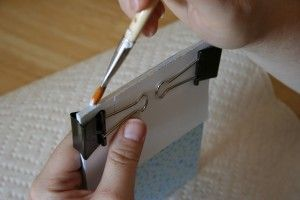 make your own notepads...this is a great idea for old scrapbook paper