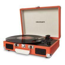 Retro Orange Cruiser Suitcase Record Player