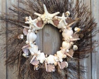 cockle Seashells for Sale | Feathered Sea shell wreath with sta rfish, sea shells, sea fan - Beach ...