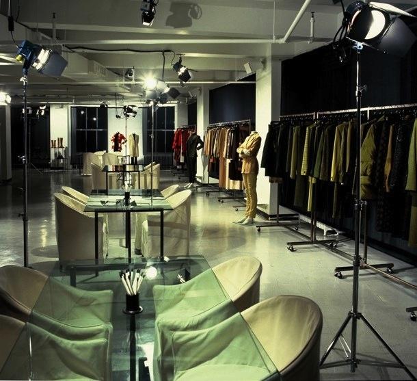 A stylish fashion showroom