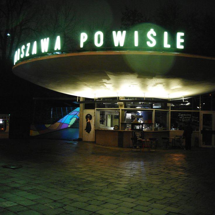 Warszawa Powisle Station by night
