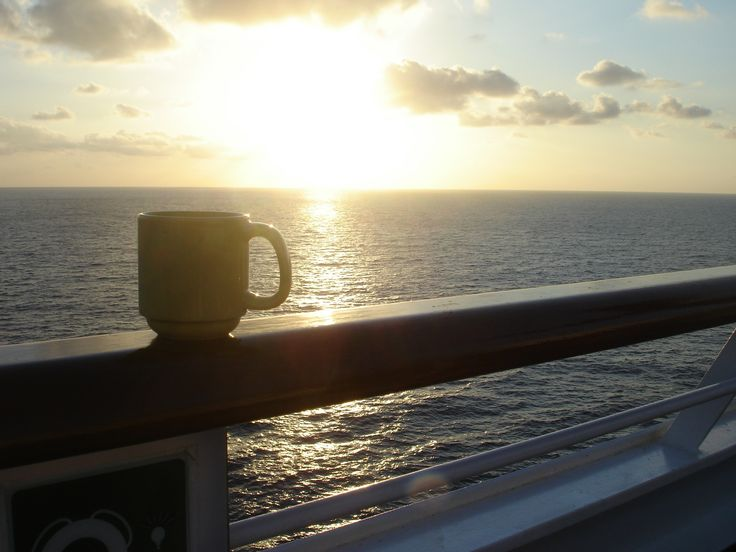 Early morning on a cruise Eastern Caribbean.