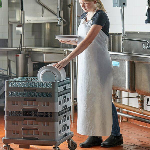 San Jamar 614dva Wh White 6 Mil Vinyl Dishwasher Apron 43 L X 36 W In 2021 Plastic Aprons Pvc Apron Apron